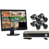 Lorex 18.5-Inch LED Serveillance System with 8-Channel 500 GB DVR and 4 Indoor/Outdoor Cameras (LH118501C4LE19B)