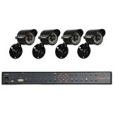 Lorex 4 Channel DVR & 4 Indoor/Outdoor Security Cameras