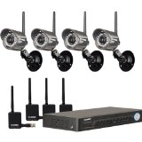 Lorex 4-Channel H.264 DVR with 4 Wireless Cameras (LH1140501C4W)
