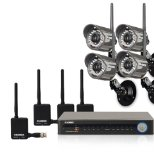 Lorex 8 Channel Video Security DVR with 4 Digital Wireless Security Cameras LH118501C4WB