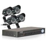 Lorex Mobile Remote View 8 Channel Security DVR System with 4 Security Cameras LH118501C4