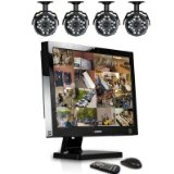 Lorex L22WD1604501 22-Inch Professional 16 Channel Integrated Video Surveillance System with 4 Color Security Cameras (Black)