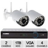 Lorex LH03041TC2W 960H 4Ch 2CAM DVR Security Kit