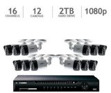 Lorex 16 Channel HD 1080p Security System with 2TB HDD and 12 1080p Cameras (LHV16212)