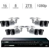 Lorex LHV1628B 16 Channel Analog DVR with 2TB HDD, 8 1080p Cameras with 130′ Night Vision