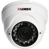 Lorex LDC7082 700TVL 960H Weatherproof Night Vision Security Dome Camera (White)