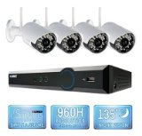 Lorex 4 Channel Wireless Security System with 500GB Hard Drive, 4 480TVL Cameras, and 90/135′ Night Vision