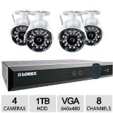 Lorex LH028501C4WB 8-Channel 500GB Eco Blackbox 4 x 960H Wireless Indoor/Outdoor Security Camera System with Stratus Connectivity (White)
