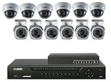 Lorex 16 Channel 3TB NVR Security System with 12 1080P POE Cameras 6 Bullet 6 Dome