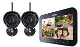 Lorex LW1742 Live SD Wireless Recording Video Surveillance System with 2 Cameras (Black)
