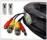 Black, 125ft Wennow All-in-one Pre-made BNC Video and Power Extension BNC Male to Male Cable with 2 Free BNC Coupler Connectors for CCTV Surveillance Camera (Black or White, 25ft, 30ft, 50ft, 60ft, 100ft, 125ft, 130ft, 150ft, 165ft, 200ft Available) (Black, 125ft)