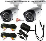 Lorex 720P 1MP up to 130Ft NV IP66 2PK Bullet Camera LBV1521